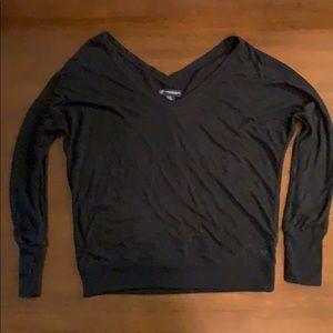 American Eagle Black Vneck Blouse Size M